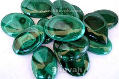 Gemstone - Stone - Cabochon - Gems - Malachite - Gifts