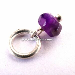 Amethyst Faceted Charm