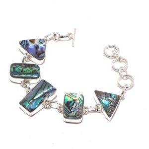 Abalone Shell Gemstone Ethnic Jewelry Handmade Bracelet