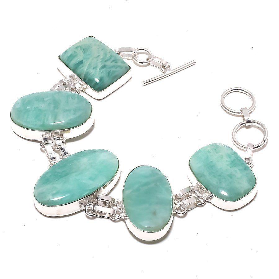 Amazonite Gemstone Ethnic Jewelry Handmade Bracelet