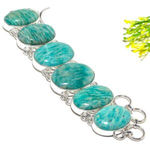 Amazonite Gemstone Handmade Ethnic Fashion Jewelry Bracelet