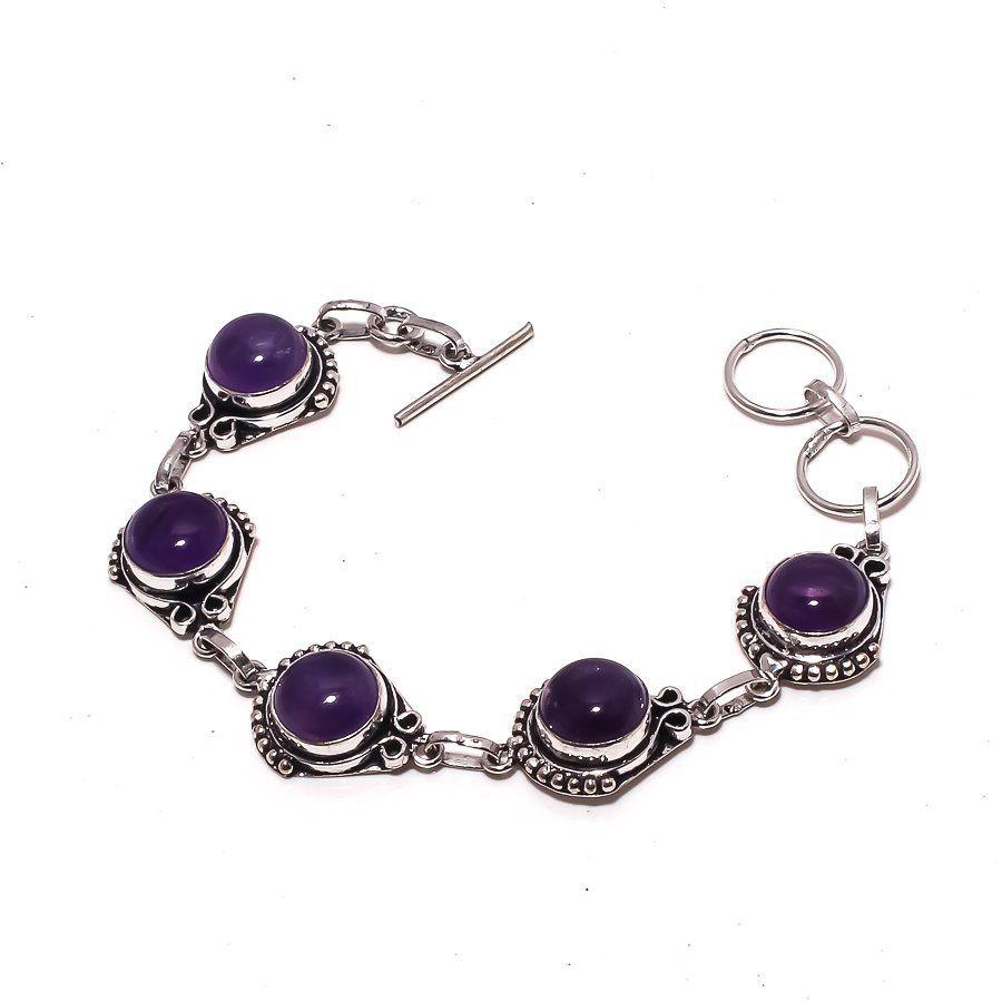 bhuvah amethyst gemstone ethnic jewelry handmade bracelet