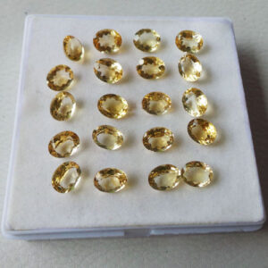 65.30 Cts20 Pcs Top Quality Calibrated Citrine Oval Faceted Loose Gemstone Lot-2
