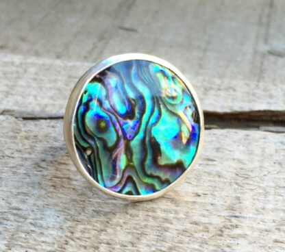 Abalone 925 Silver Ring