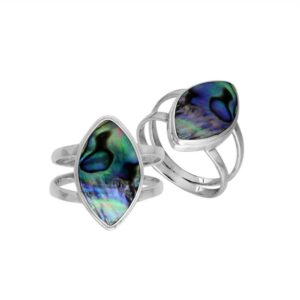 Abalone Shell 925 Silver Ring