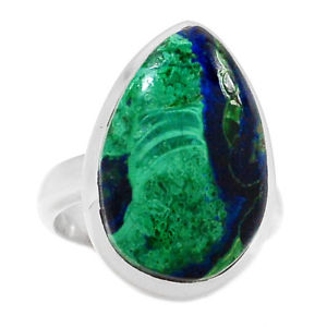 Azurite Malachite Stone Ring