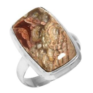 Mushroom Rhyolite Ring