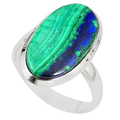 Azurite Malachite Green Malachite Ring Blue Azurite Ring Blue Green Gemstone Natural Gemstone Azurite Ring Malachite Ring Sterling
