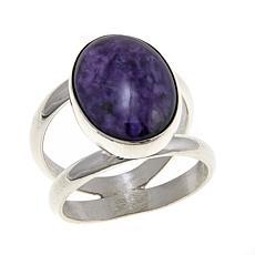 Natural Charoite Stone Ring