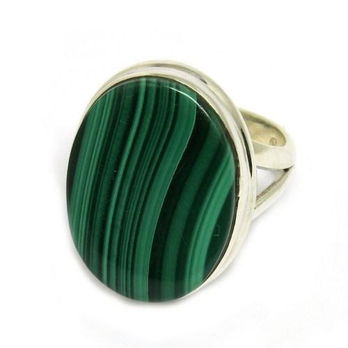Natural Malachite Stone Ring