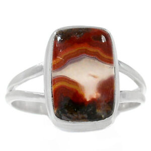 Natural Moroccan Seam Agate Ring