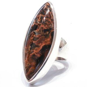 Natural Pietersite Stone Ring