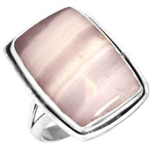 Natural Pink Aragonite RingNatural Pink Aragonite Ring