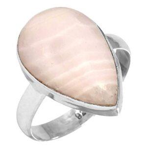 Natural Pink Aragonite RingsNatural Pink Aragonite Rings