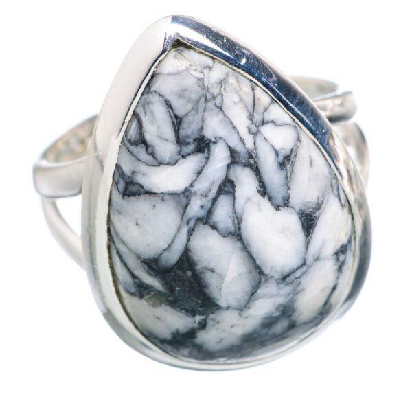 Natural Pinolith Stone Rings