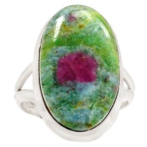 Natural Ruby Fuchsite Ring
