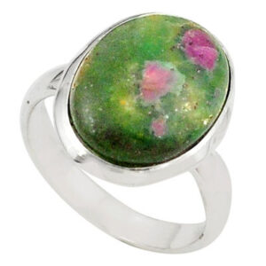 Natural Ruby Fuchsite Stone Ring