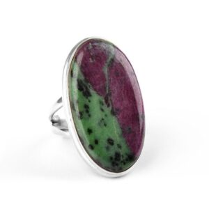 Natural Ruby Zoisite RingsNatural Ruby Zoisite Rings