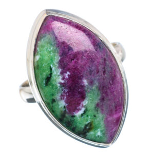 Natural Ruby Zoisite Stone Ring