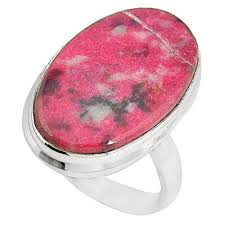 Natural Thulite Stone RingNatural Thulite Stone Ring