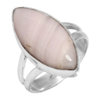 Pink Aragonite Ring