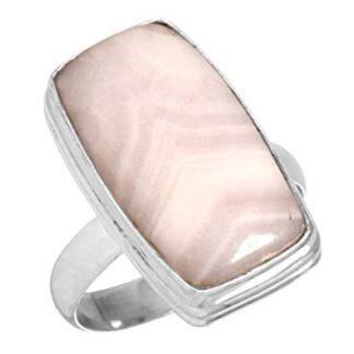 Pink Aragonite Stone Ring