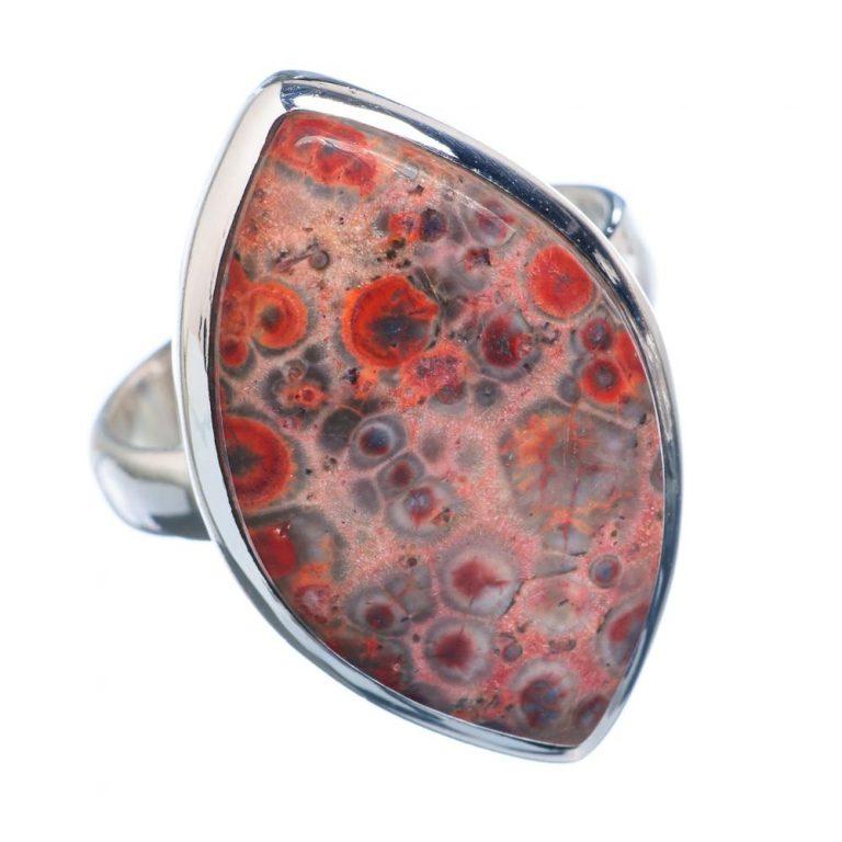 Red Poppy Jasper Stone Ring