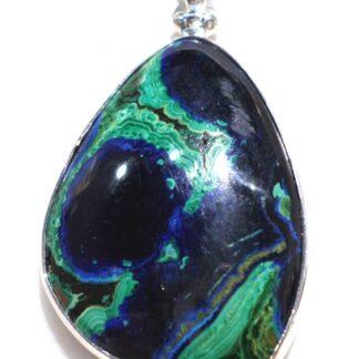 Azurite Malachite Stone Pendant