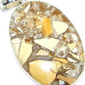 Brecciated Mookaite Stone Pendant