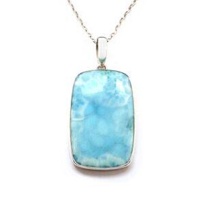 Natural Larimar Stone Pendant Price