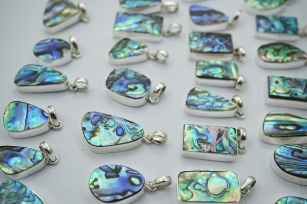 925 Silver Abalone Shell Pendant 50 Pieces Wholesale Lot Price