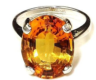 AAA Quality Citrine Stone Ring Price