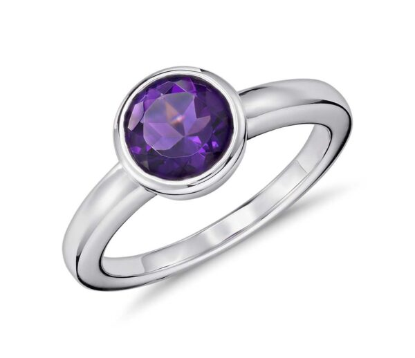 Amethyst Round Shape Ring Price