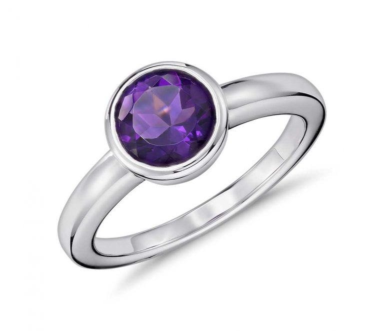 Amethyst Round Shape Ring Price