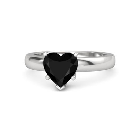 Black Onyx Heart Shape Ring Price