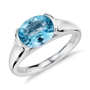 Blue Topaz Ring Price