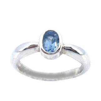 Blue Topaz Stone Ring Price