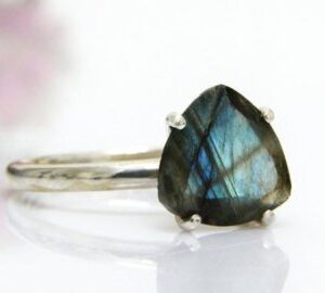 Faceted Labradorite Stone Ring
