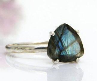 Faceted Labradorite Stone Ring