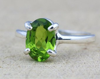 Fancy Design Natural Peridot Ring Price