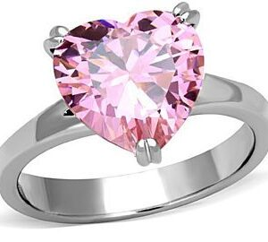 Heart Pink Zircon Ring Price