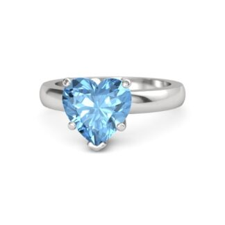 Heart Shape Blue Topz Ring