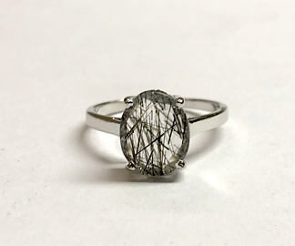 Natural Black Rutile Quartz Ring Price