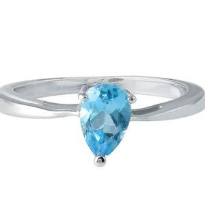Natural Genuine Blue Topz Ring Price