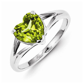 Natural Heart Shape Peridot Ring Price