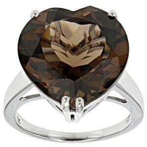 Natural Heart Shape Smoky Quartz Ring Price