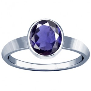 Natural Iolite Ring