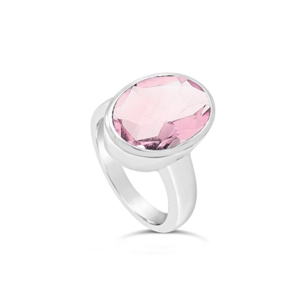 Natural Rose Quartz Ring Price