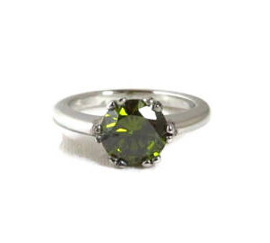 Natural Round Peridot Ring Price