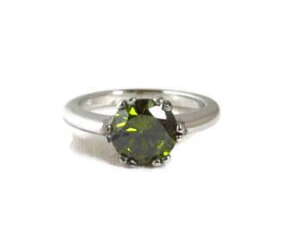 Natural Round Peridot Ring Price